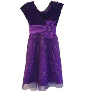 2/$30  Joan Michelle Purple Sparkle Dress
